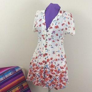 Kimchi Blue floral mini dress